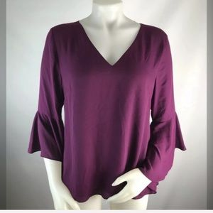NEW WHBM Bell Sleeve Open Back Blouse